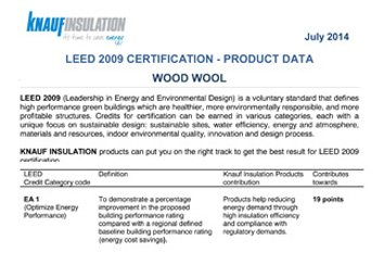 Knauf Insulation products can put you on the right track to get the best result for LEED 2009 certification