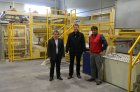 Start-up of gluing line in the Wood Wool plant in Zalaegerszeg, Hungary